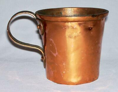 """Vintage Handcrafted Solid Quality Copper 25 Oz. """"CUP"""" w/Tin Lining & Dovetailing"""