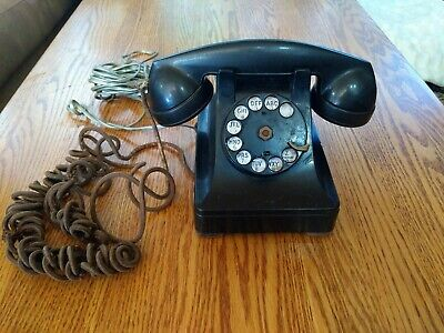 Vintage Bell System Western Electric Black Desk Rotary Phone