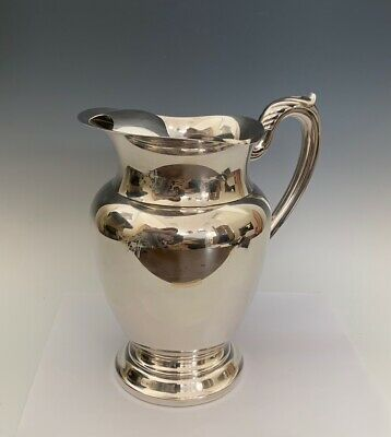 Beautiful Vintage Oneida Silver Plate Water Pitcher