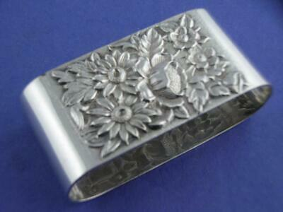Sterling S KIRK & SON Oval Napkin Ring REPOUSSE no. 20 ~ no mono