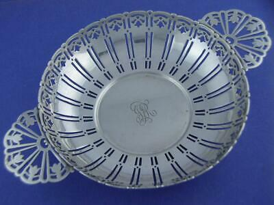 Rare Sterling TIFFANY & CO Punch Strainer w/ pierced tulip patterns c1907