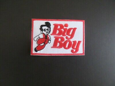 """Big Boy Restraunts"""" Red & White Embroidered Iron On Patches 2 X 3"""