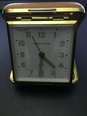 Phinney-Walker Traveling Alarm Clock Luminous Hands - Made in Germany