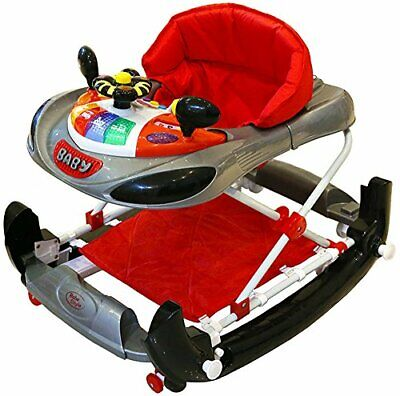 Bebe Style Deluxe F1 Racing Car Walker and Rocker Grey/Red