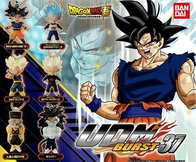 Dragon Ball SUPER Keychain - 2019 Bandai Gashapon UDM THE BURST 37 ~ Set of 6 ~