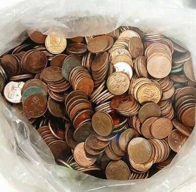 Lot Of 100 Old Israeli Copper Coins 10 Agora Coin Israel Private Collection Lira