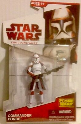 """Star Wars The Clone Wars RARE COMMANDER PONDS Action Figure  3.75"""" Tall"""