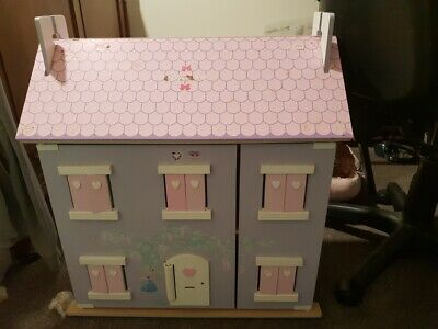 Dollhouse -3 Storey's, With Furniture And Dolls. Excellent Condition.