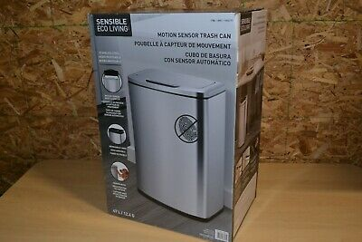 Sensible Eco Living 47L Automatic Touchless Trash Can with Motion Sensor Steel