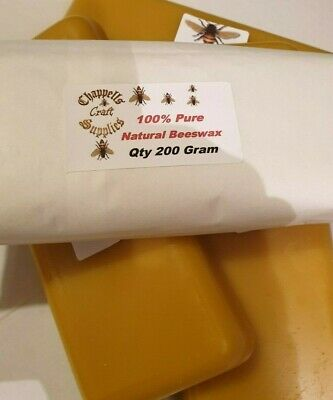 100% Beeswax block,200g great for Candle,Food wraps,cosmetics,and many more uses