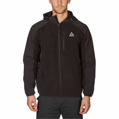 Reebok Mens Hooded Vestee Active Jacket