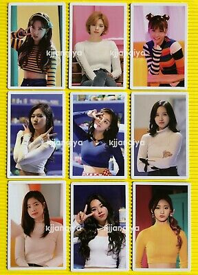 TWICE Merry and Happy Heart Shaker Monograph Photocard Set (9pcs)