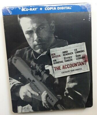 El Contable (The Accountant) Blu-Ray Steelbook Edicion Caja Metalica, España