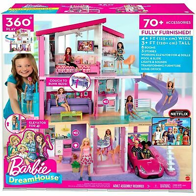 Barbie Dream House Play set with 70+ Accessory Pieces Kids Doll House