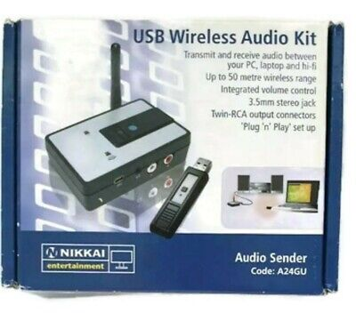 Nikkai A24GU - USB wireless audio - Streaming sender kit - Sender & Reciever