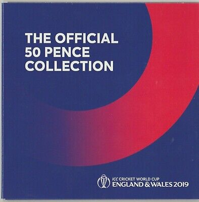 The Official ICC Cricket World Cup 2019 50p Isle of Man BU Set