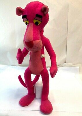 """Vintage Large 33"""" Mirisch Geoffrey 1964 Bendable Mighty Star Pink Panther Plush"""