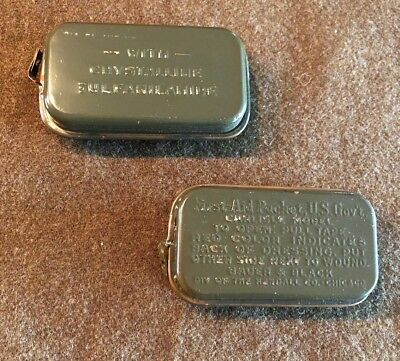 2 WW2 US Military Army First Aid Medical Medic Field Packets Carlisle Bandage