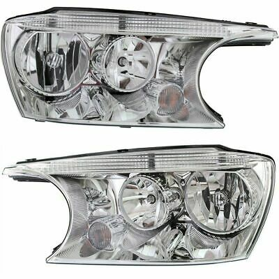 For Buick Rainier 2004 2005 2006 2007 Headlight Halogen Right & Left Pair