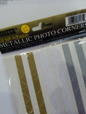 204 Pioneer Self Adhesive Metallic photo corners acid free