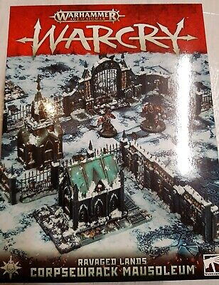 Warcry Corpsewrack mausoleum. Gameboard and cards only. No terrain.