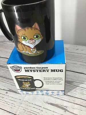"""Bigmouth Inc """"Party The Pun"""" Mystery Coffee/Beverage Mug Kitten,Cat"""