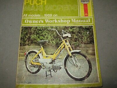 PUCH MAXI SPORT Super N N2 S S2 Nostalgie MOPEDS 1969 on Haynes Workshop  Manual