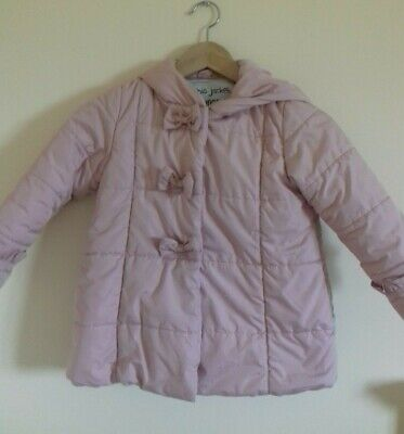 Girls Mini V By Very Pink Padded Coat Jacket 4-5 Years