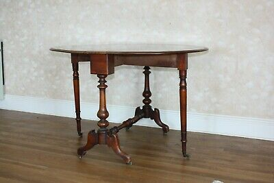 Victorian folding table on wheels