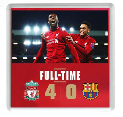 Liverpool Football Club Champions League Reproduction Drink coaster