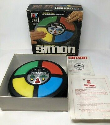 Vintage 1978 Simon Electronic Game with Manual and Box Milton Bradley UNTESTED