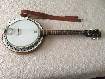 HONDO RESONATOR BLUEGRASS Banjo - Vintage 80s Model HB82A - With