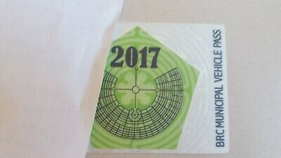 Burning Man Vehicle Pass 2017 Souvenir NOT FOR 2019!!!!!