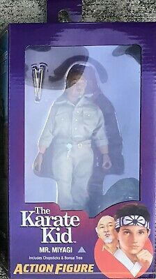 "NECA KARATE KID 1984 8 inch RETRO Clothed Action figure 8"" Mr. Miyagi Mr"