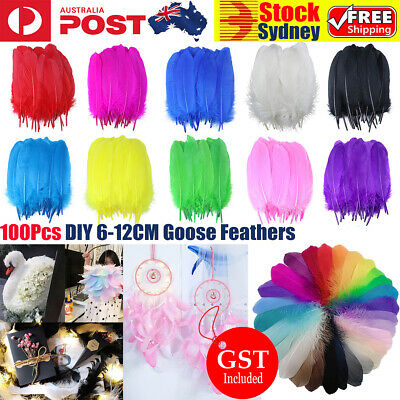 100x Goose Feathers 6-12cm Event Feather Costume Wedding Party Decorations Craft