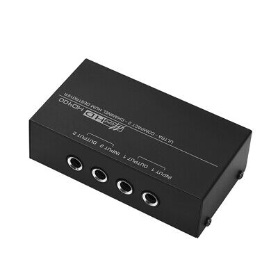 Compact Destroyer 2-channel Hum Eliminator Noise Filter with 1/4 Inch TRS L5X4