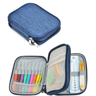 72Pcs Kit Knitting Needle Soft Handle Crochet Hook Portable Aluminum Sewing Tool