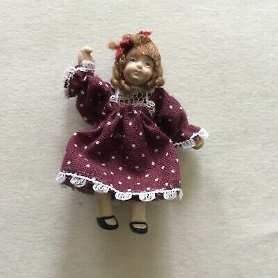 Kathe Kruse Grandmother Poseable Dollhouse Doll 12.7 cm 5 inches