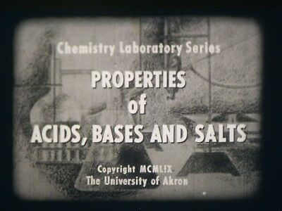 Properties Of Acids, Bases And Salts 16mm short film 1959 B&W