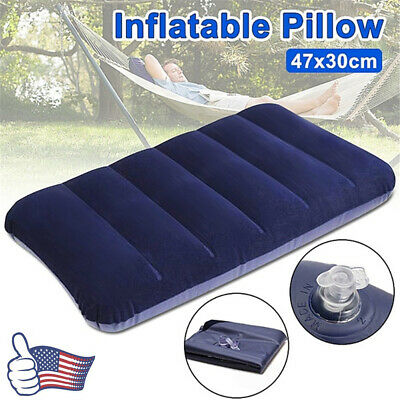 Portable Ultralight Inflatable Air Pillow Cushion Travel Flight Camping Rest US