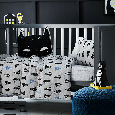 ADAIRS KIDS Batman Jersey Quilted COT QUILT COVER SET DC Comics Licensed