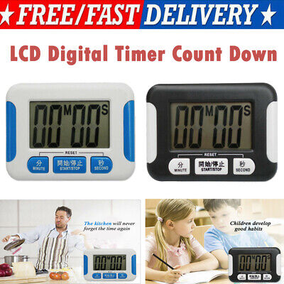 Large LCD Digital Kitchen Egg Cooking Timer Count Down Clock Alarm Stopwatch CA