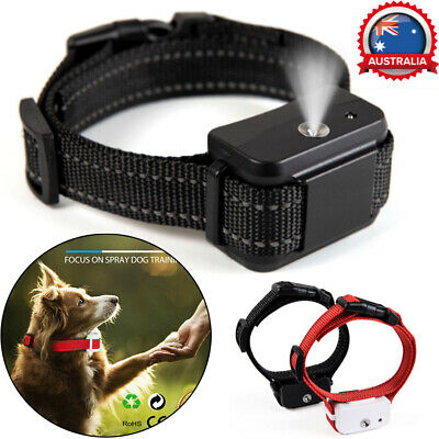 Rechargeable Anti Bark Dog Training Collar Stop Barking Spray Gas Auto Collars