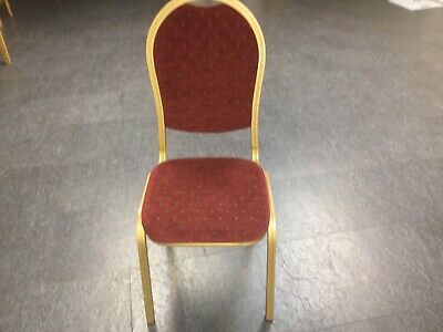 Used Red Banquet Chairs, Banqueting Chairs, Wedding Chairs, (7 Available)