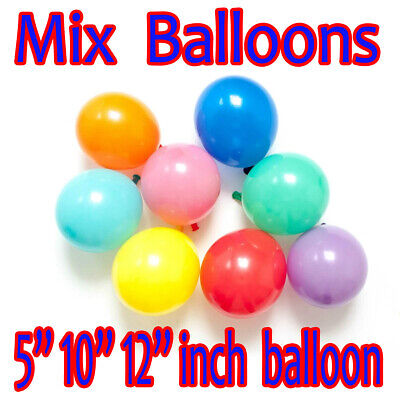 "5""10""12"" mix LARGE PLAIN BALONS BALLONS helium BALLOONS Quality Birthday Wedding"