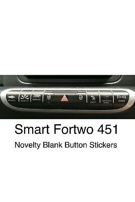 SMART Car FORTWO 451 Blank Button Replacement Decals Seat Eject Stickers SMALL