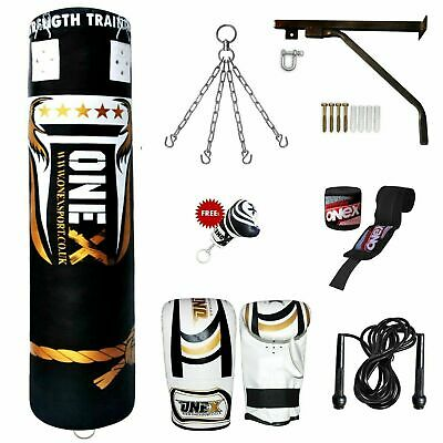 Punch Bag 5ft Filled Kick Boxing Set Heavy Duty Bags punching Gym Training MMA