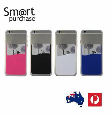 3M Adhesive Colors Smart Phone Silicone Wallet Opal Card Holder w