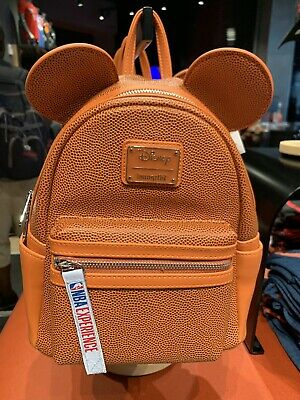 2019 Disney NBA EXPERIENCE Mickey BASKETBALL TEXTURED Mini Backpack Loungefly