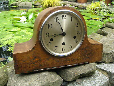 Vintage Clock, Napoleon hat type, Chiming and striking,  Good Working condition